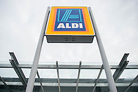 Thursday  21 July 2016<br /> Pictured: Exterior view of the Store<br /> Re: ALDI Haverfordwest Grand Re-opening