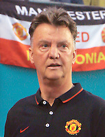 Coach Louis van Gaal's Manchester United vs Liverpool 2014 Guinness International Champions Cup.