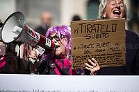 09.04.2019 - Presidio #NoDdlPillon – NoDdlPillon Rally Outside the Italian Parliament