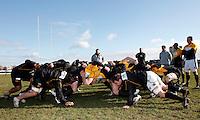 Photo:Richard Lane/Richard Lane Photography. London Wasps training. 15/02/2012. Wasps scrum.