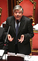 Roma 02/08/2010 Giacomo Caliendo in Senato...Photo Samantha Zucchi Insidefoto Italian PDL senator Giacomo Calendo, inquired in the P3 investigation about the eolic installations in Sardinia.