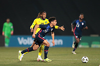 WIENER NEUSTADT, AUSTRIA - MARCH 25: Nicholas Gioacchini #26 of the United States during a game between Jamaica and USMNT at Stadion Wiener Neustadt on March 25, 2021 in Wiener Neustadt, Austria.