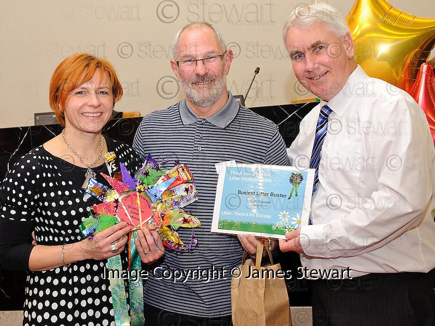Litter Strategy Awards 2012. Busiest Litter Buster, Alan Antczak.