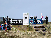 Sunday 31st May 2015; Rickie Fowler, USA, tees off at the 8th<br /> <br /> Dubai Duty Free Irish Open Golf Championship 2015, Round 4 County Down Golf Club, Co. Down. Picture credit: John Dickson / DICKSONDIGITAL
