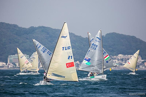 Finn Class racing at the 2021 Olympic venue of Enoshima near Tokyo. The postponed regatta in July-August – which would have been the Finns last appearance as an Olympic class - is now itself in question with a new pandemic outbreak in Japan