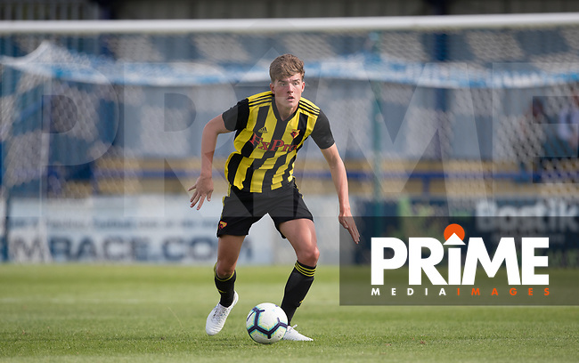 Harry Hudson of Watford during the Professonal Development League match between Watford U23 and Sheffield United U23 at The Maurice Rebak Stadium, Summers Lane, England on 17 August 2018. Photo by Andy Rowland.