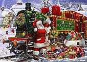 Interlitho-Franco,CHRISTMAS SANTA, SNOWMAN, WEIHNACHTSMÄNNER, SCHNEEMÄNNER, PAPÁ NOEL, MUÑECOS DE NIEVE,train, paintings+++++,KL6181,#x#