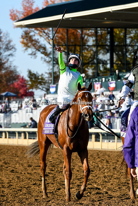 November 7, 2020 : Monomoy Girl, ridden by Florent Geroux, wins the Longines Distaff on Breeders' Cup Championship Saturday at Keeneland Race Course in Lexington, Kentucky on November 7, 2020. Jessica Morgan/Breeders' Cup/Eclipse Sportswire/CSM
