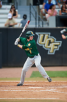 Siena Saints pinch hitter Zach Durfee (2) at bat during a game against the UCF Knights on February 17, 2019 at John Euliano Park in Orlando, Florida.  UCF defeated Siena 7-1.  (Mike Janes/Four Seam Images)