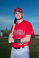 AZL Angels infielder Justin Jones (88) poses for a photo before an Arizona League game against the AZL Padres 2 at Tempe Diablo Stadium on July 18, 2018 in Tempe, Arizona. The AZL Padres 2 defeated the AZL Angels 8-1. (Zachary Lucy/Four Seam Images)