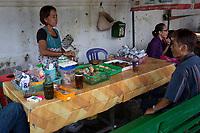 Yogyakarta, Java, Indonesia.  Street-side Fast Food Stand.