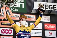 Primoz Roglic (SVN/Jumbo-Visma) wins the 106th Liège-Bastogne-Liège 2020 (1.UWT) after an eventful race finish<br /> <br /> <br /> 1 Day Race Liège-Liège 257km