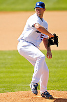 11 March 2007: Los Angeles Dodgers pitcher Eric Stults on the mound against the Washington Nationals at Holman Stadium in Vero Beach, Florida. <br /> <br /> Mandatory Photo Credit: Ed Wolfstein Photo