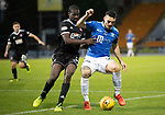 St Johnstone v Hamilton Accies…10.11.18…   McDiarmid Park    SPFL<br />Tony Watt battles with Delphin Tshiembe<br />Picture by Graeme Hart. <br />Copyright Perthshire Picture Agency<br />Tel: 01738 623350  Mobile: 07990 594431