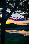 Hammonasset River sunset and landscape, CT.