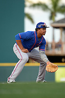 St. Lucie Mets third baseman Jhoan Urena (13) during a game against the Bradenton Marauders on April 11, 2015 at McKechnie Field in Bradenton, Florida.  St. Lucie defeated Bradenton 3-2.  (Mike Janes/Four Seam Images)