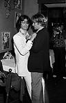 GIANNI MACCHIA CON HELMUT BERGER<br /> JACKIE O' ROMA 1975