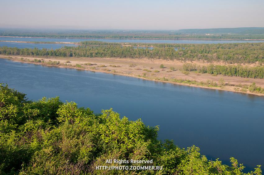The Volga river bend near the village Upravlenchesky