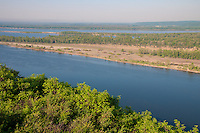 The Volga river bend near the village Upravlenchesky