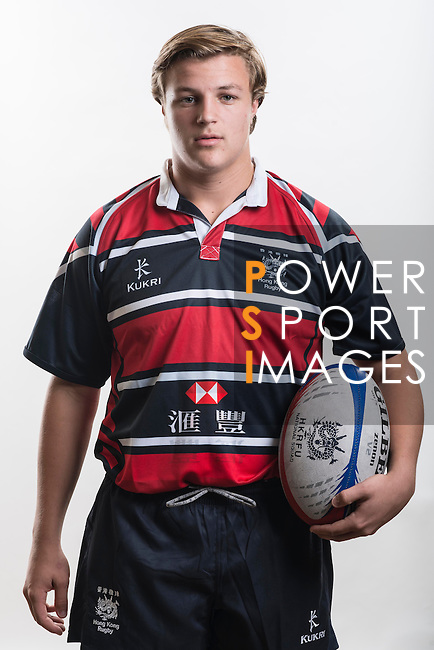 Hong Kong Junior Squad team member Sjors Laurijsen poses during the Official Photo Session Day at King's Park Sports Ground ahead the Junior World Rugby Tournament on 25 March 2014. Photo by Andy Jones / Power Sport Images