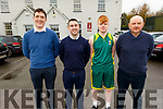 St Pats Basketball Coaches and Captain<br /> Paul Butler, Eoin Hayes, Gary O'Sullivan and Denny Porter.