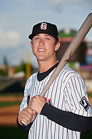 Birmingham Barons Blake Rutherford (9) poses for a photo before a Southern League game against the Chattanooga Lookouts on May 1, 2019 at Regions Field in Birmingham, Alabama.  Chattanooga defeated Birmingham 5-0.  (Mike Janes/Four Seam Images)