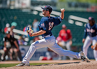 31 May 2018: New Hampshire Fisher Cats pitcher Nick Hartman on the mound against the Portland Sea Dogs at Northeast Delta Dental Stadium in Manchester, NH. The Sea Dogs defeated the Fisher Cats 12-9 in extra innings. Mandatory Credit: Ed Wolfstein Photo *** RAW (NEF) Image File Available ***