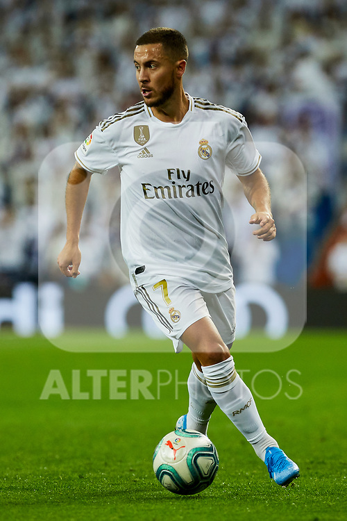 Eden Hazard of Real Madrid during La Liga match between Real Madrid and Real Betis Balompie at Santiago Bernabeu Stadium in Madrid, Spain. November 02, 2019. (ALTERPHOTOS/A. Perez Meca)