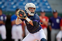 Satchell Norman (10) of Sarasota High School in Sarasota, FL during the Perfect Game National Showcase at Hoover Metropolitan Stadium on June 19, 2020 in Hoover, Alabama. (Mike Janes/Four Seam Images)