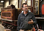 Restoration supervisor Chris DeWitt talks about the Glenbrook locomotive restoration project at the Nevada State Railroad Museum in Carson City, Nev., on Wednesday, Dec. 10, 2014. DeWitt says the 31-year-long effort has been a labor of love. (Las Vegas Review-Journal/Cathleen Allison)
