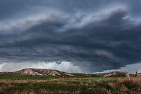 Supercell thunderstorm above the Wildcat Hills in Nebraska, May 20, 2014