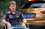 Formula One Triple World Champion Sebastian Vettel reflects on the Malaysian Grand Prix and looks ahead to this weekend's race in Shanghai for Infiniti Red Bull Racing at the Yongfoo Elite Chinese restaurant on 10 April 2013 in Shanghai, China. Photo by Victor Fraile / The Power of Sport Images