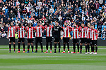Athletic Club de Bilbao's players during La Liga match between Real Madrid and Athletic Club de Bilbao at Santiago Bernabeu Stadium in Madrid, Spain. April 21, 2019. (ALTERPHOTOS/A. Perez Meca)