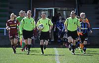 Dames Club Brugge - SV Zulte Waregem : opkomst beide ploegen.foto DAVID CATRY / Nikonpro.be
