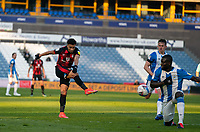 13th April 2021; The John Smiths Stadium, Huddersfield, Yorkshire, England; English Football League Championship Football, Huddersfield Town versus Bournemouth; Mouhamadou-Naby Sarr of Huddersfield Town blocks a fierce shot from Junior Stanislas of Bournemouth