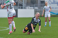 Stephanie Van Gils (27) of Eendracht Aalst pictured during a female soccer game between Standard Femina de Liege and Eendracht Aalst on the 12 th matchday of the 2020 - 2021 season of Belgian Scooore Womens Super League , saturday 30 th of January 2021 in Angleur , Belgium . PHOTO SPORTPIX.BE | SPP | STIJN AUDOOREN