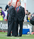 ::  HAMILTON MANAGER BILLY REID LOOKS LIKE HE ACCEPTED THAT HIS TEAM ARE GOING TO BE RELEGATED AS HE CHATS WITH ABERDEEN MANAGER CRAIG BROWN AT THE END OF THE GAME ::.25/04/2011  sct_jsp024_hamilton_v_aberdeen  .Copyright  Pic : James Stewart.James Stewart Photography 19 Carronlea Drive, Falkirk. FK2 8DN      Vat Reg No. 607 6932 25.Telephone      : +44 (0)1324 570291 .Mobile              : +44 (0)7721 416997.E-mail  :  jim@jspa.co.uk.If you require further information then contact Jim Stewart on any of the numbers above........