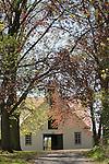 historic barn in Muncy, PA in spring