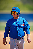 Toronto Blue Jays Alejandro Kirk (66) during a Minor League Spring Training Intrasquad game on March 14, 2018 at Englebert Complex in Dunedin, Florida.  (Mike Janes/Four Seam Images)