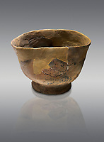 Neolithic terracotta bowl. 6000 BC. Catalhoyuk Collections. Museum of Anatolian Civilisations, Ankara