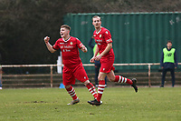Ronnie Winn of Hornchurch scores the second goal for his team and celebrates with his team mates during Hornchurch vs Maidstone United, Buildbase FA Trophy Football at Hornchurch Stadium on 6th February 2021