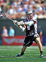 24 August 2008: Denver Outlaws' Midfielder Josh Sims in action against the Rochester Rattlers at the Championship Game of the Major League Lacrosse Championship Weekend at Harvard Stadium in Boston, MA. The Rattles took control of the second half to defeat the Outlaws 16-6 and take the league honor for the 2008 season...Mandatory Photo Credit: Ed Wolfstein Photo