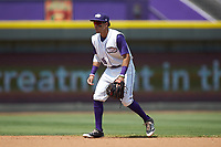 Winston-Salem Dash shortstop Laz Rivera (16) on defense against the Buies Creek Astros at BB&T Ballpark on July 15, 2018 in Winston-Salem, North Carolina. The Dash defeated the Astros 6-4. (Brian Westerholt/Four Seam Images)