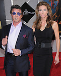 Sylvester Stallone and Jennifer Flavin at the Marvel World Premiere of Iron Man 2 held at The El Capitan Theatre in Hollywood, California on April 26,2010                                                                   Copyright 2010  DVS / RockinExposures