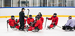 PyeongChang 8/3/2018 - Assistant coach Luke Pierce as Canada's sledge hockey team practices ahead of the start of competition at the Gangneung practice venue during the 2018 Winter Paralympic Games in Pyeongchang, Korea. Photo: Dave Holland/Canadian Paralympic Committee