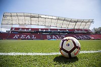 Sandy, UT - Saturday April 14, 2018: NWSL Nike ball  during a regular season National Women's Soccer League (NWSL) match between the Utah Royals FC and the Chicago Red Stars at Rio Tinto Stadium.