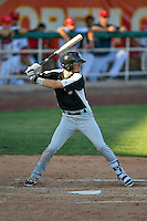 Taylor Snyder (4) of the Grand Junction Rockies at bat against the Orem Owlz in Pioneer League action at Home of the Owlz on July 6, 2016 in Orem, Utah. The Owlz defeated the Rockies 9-1 in Game 1 of the double header.  (Stephen Smith/Four Seam Images)