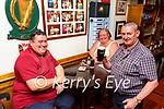 John Cronin Proprietor delivers the drinks to Teresa and Paul Cronin  in the Sportsman bar Killarney on Monday
