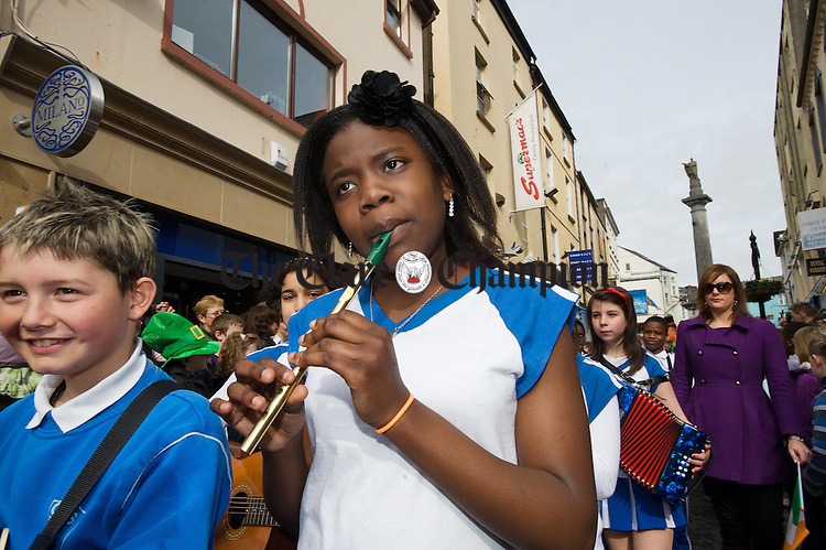 at the St Patrick's Day Parade in Ennis. Photograph by John Kelly.