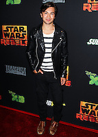 """CENTURY CITY, CA, USA - SEPTEMBER 27: Taylor Gray arrives at the Los Angeles Screening Of Disney XD's """"Star Wars Rebels: Spark Of Rebellion"""" held at the AMC Century City 15 Theatre on September 27, 2014 in Century City, California, United States. (Photo by Celebrity Monitor)"""